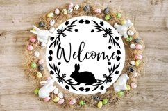 Spring Flower Easter Bunnies svg cut file Product Image 5