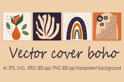 Abstract trendy universal vector background template boho Product Image 1