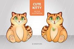 Cute kitten, cat in cartoon style, kitty vector illustration Product Image 1