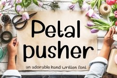 Petal Pusher - an adorably cute hand written font Product Image 1