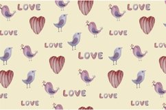 Watercolor set, patterns and tags for Valentine's Day. Product Image 3