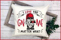 I Love You GNOME Matter What Valentines SVG, Biker Gnome SVG Product Image 3