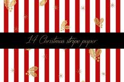 Christmas stripe digital paper pattern Product Image 6