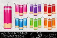 Huge Bundle 20 Oz. Skinny Tumbler Wrap Sublimation Design Product Image 2