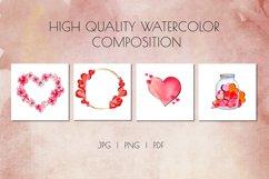Valentine's Day Watercolor Clipart. Invitation, card design Product Image 6