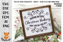 Christmas Bakery Cafe SVG for Silhouette, Cricut Product Image 1