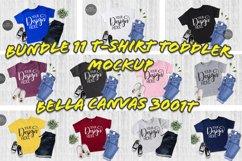 Bundle 11 T-Shirt Toddler Mockup Bella Canvas 3001T Flat Lay Product Image 1