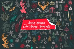 Christmas collage vector set Product Image 3