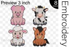 Cute Farm Animals - Embroidery Files - 1470e Product Image 2