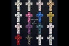 32 Diamond Pearl Rhinestone Christian cross religious Easter Product Image 3