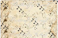 Music notes scrapbook paper, Vintage music digital paper Product Image 3