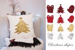Buffalo plaid Christmas, shapes, sublimations Product Image 4