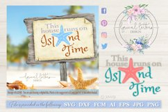 This House Runs On Island Time SVG DXF LL034B Product Image 1