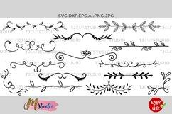 Dividers Svg, Hand drawn Leaves, Leaf Dividers svg. Product Image 1