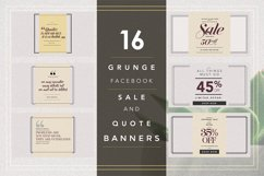GRUNGE Facebook sale and quote pack Product Image 1