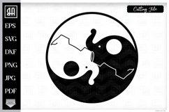 Jin Jang SVG, Elephant SVG, Jin Jang elephants SVG, Jin Jang Product Image 1