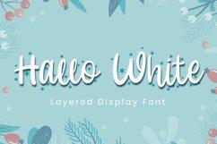 Hallo White - Christmas Font Product Image 1