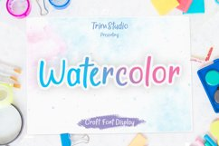 Watercolor - Quirky Handwritten Font Product Image 1