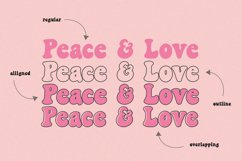 Peace and Love Font Duo Product Image 4