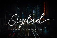 Sigduel   Signature Font Product Image 1