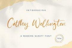 Catthy Wellingten - Modern Script Font Product Image 1
