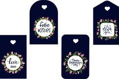 Valentine Gift Tags PNG. Valentines day quotes Product Image 2