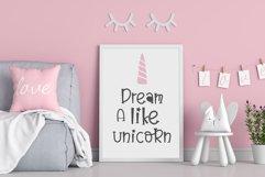 Believe in unicorn Handwriting- cute kid font Kawaii style! Product Image 5