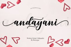 Andayani Script || Specials Valentine's Day Product Image 1