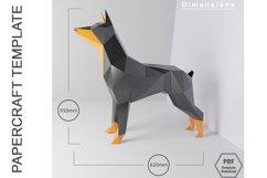 PDF Template of Doberman Pinscher Papercraft/ 3d Dog craft Product Image 2