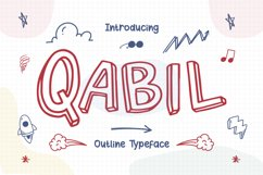 Qabil - Outline Typeface Product Image 1