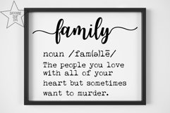 Family Definition SVG - Funny Family Definition - Home Decor Product Image 2