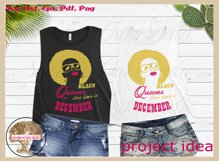 Black queens are born in December birthday t shirt design Product Image 4