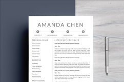Clean Professional Resume Template Word Product Image 2