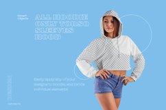 8 Women Crop Top Hoodie Mockups Product Image 6
