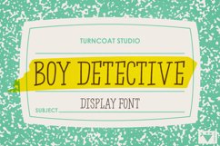 Boy Detective - Display Font Product Image 1