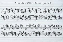 Albanian Olive Monogram   Font Trio Product Image 6