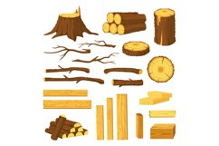 Wood trunks and planks. Raw materials for lumber industry, l Product Image 1