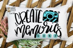 Hand lettered Create Memories - Camera - Cut File Product Image 1