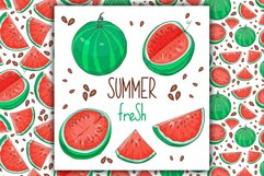 Watermelon Vector Clipart Product Image 1