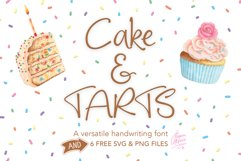 Cake and Tarts cute Handwriting font Product Image 1