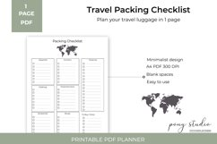 Travel Packing List Template   A4- PDF Printable Product Image 2