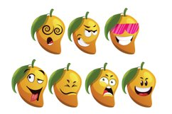 7X Mango Character Expressions Illustrations. Product Image 2