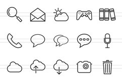 110 Mobile Apps Line Icons Product Image 2