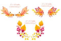 Fall decor clipart Watercolor autumn wreath Invitation decor Product Image 4