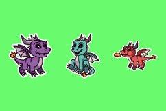 Dragon Sticker Illustrations Product Image 1