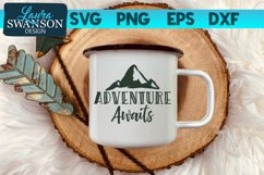 Adventure Awaits SVG Cut File, SVG, PNG, EPS, DXF Product Image 1