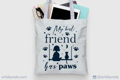 My best friend has paws Cat SVG Quote. Product Image 5