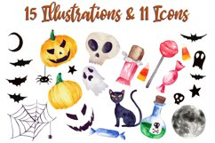 Halloween Watercolor Clip Art Pack! With SVG/Vector Versions Product Image 2