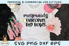 Mermaids Unicorns & Big Bows SVG Product Image 1