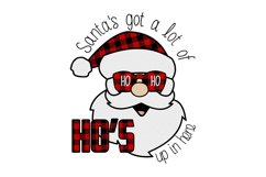 Santa's got a lot of ho ho ho's up in here sublimation Product Image 2